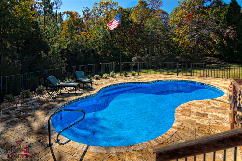 Liner Pool with Pavers Deck