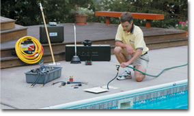 swimming pool leak detection and repair
